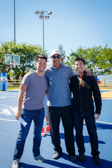 Anthony and Dave with former Knicks shooting guard John Starks